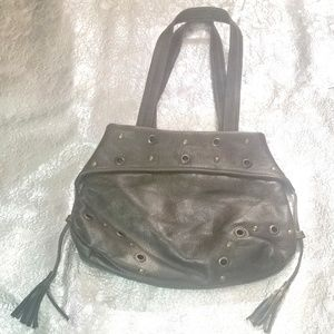 Bags - Military green leather bag
